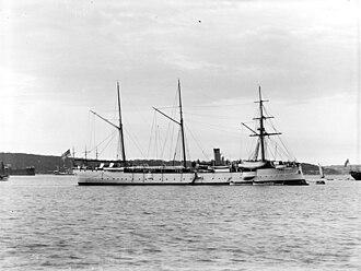 SMS Bussard - Bussard in Sydney, Australia in the 1890s