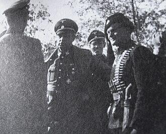 Werner Lorenz - Lorenz with a Chetnik officer in Bosnia, autumn 1942.