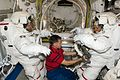 STS-126 ISS-18 EVA-2 preparation in the Quest airlock.jpg