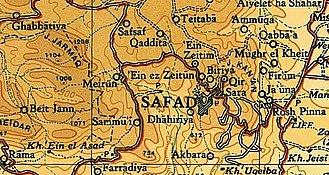 Ein Zeitim - Villages around Safad, 1945