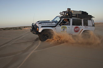 Rally raid - A Norwegian rally team is trying to complete one of the more difficult stages of the Budapest-Bamako rally in 2014.