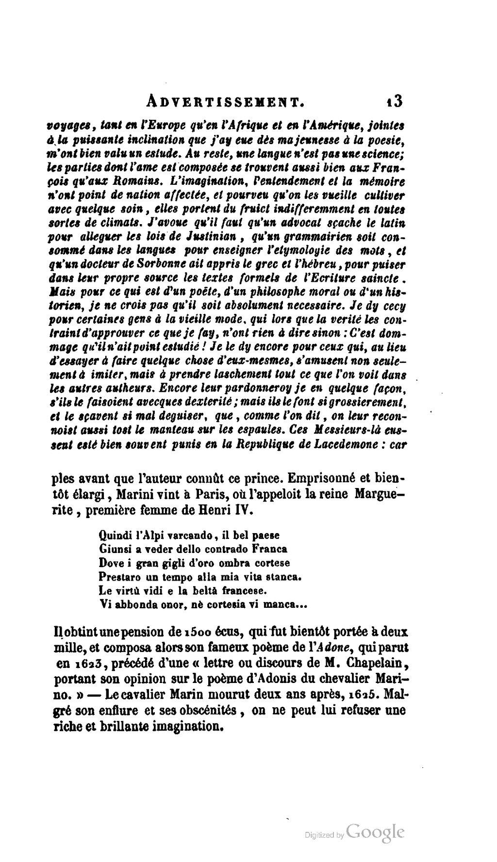 Pagesaint Amant œuvres Complètes Livet 1855 Volume 1