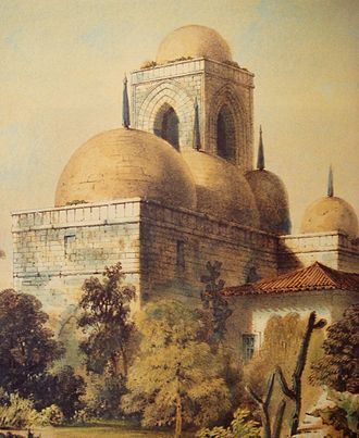 Ibn Jubayr - San Giovanni degli Eremiti, an example of Arab-Norman architecture, combining Gothic walls with Islamic domes; built in Palermo, Sicily by the Normans.