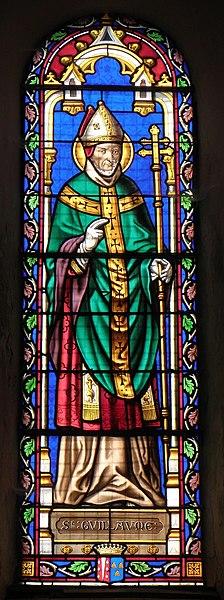Vitrail de l'église de Saint-Ouën-des-Vallons (53). Saint-Guillaume.