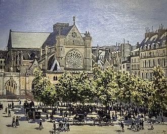 Saint-Germain l'Auxerrois - Claude Monet - Sainte-Germain-L'Auxerrois