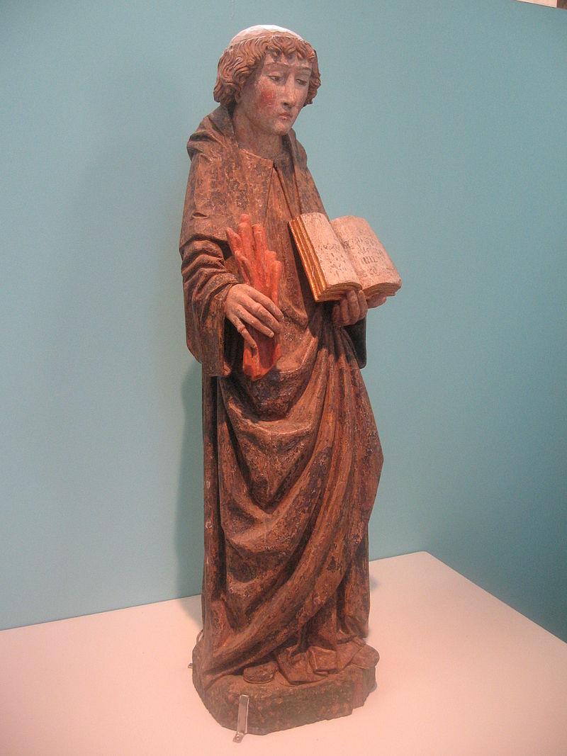 Den hellige Godo, trestatue fra rundt 1510-20 i Outines i departementet Marne i regionen Champagne-Ardenne, klassifisert som historisk monument den 30. september 1911