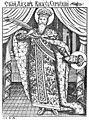 Saint Lazar, Serbian Prince, in Stemmatographia (1741).jpg