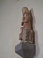 Sainte Marthe et la Tarasque - statue du XIVe siècle en pierre polychrome - Dompierre dans l'Orne (France) - 3.JPG