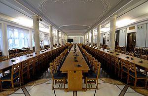 Sejm and Senate Complex of Poland - Interior of the Column Hall