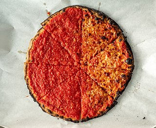 New Haven-style pizza