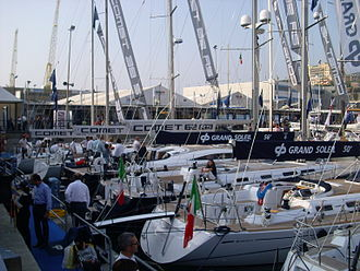 Genoa International Boat Show - exhibition at anchor