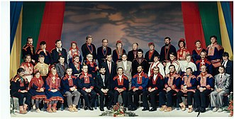 Sámi Parliament of Norway - Plenary of the inaugural Sámi Parliament in 1989