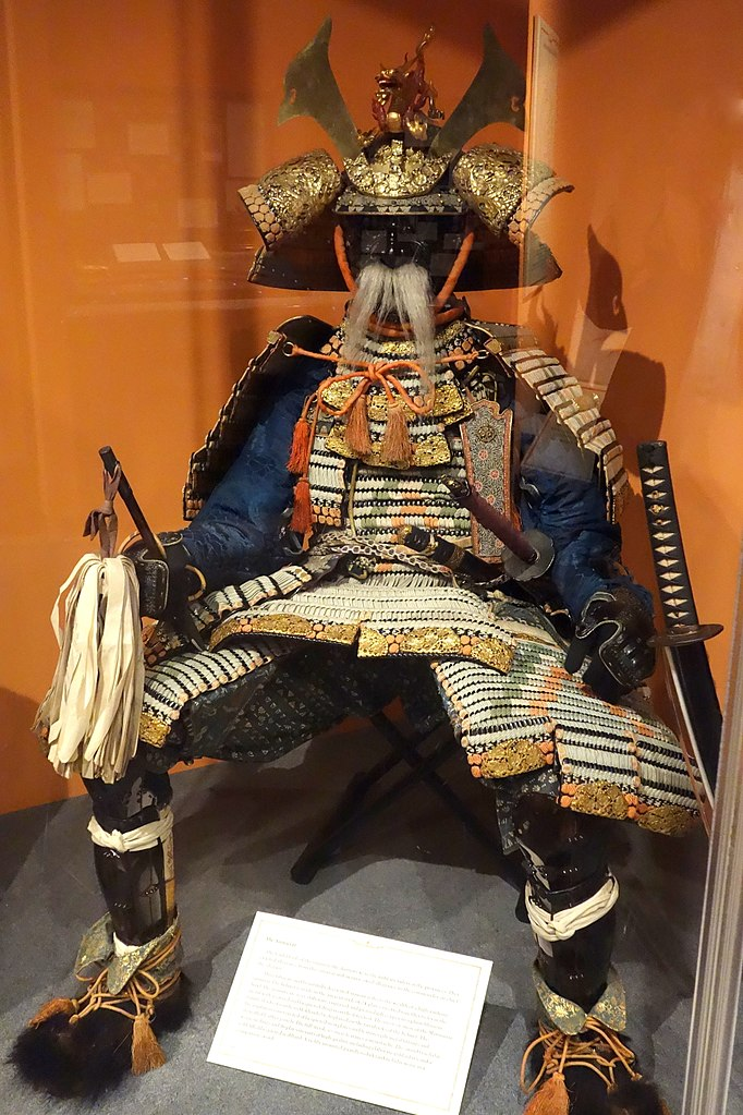 Matsumae Japan  city pictures gallery : Samurai armor with Matsumae family crest, Japan, view 1 Glenbow ...