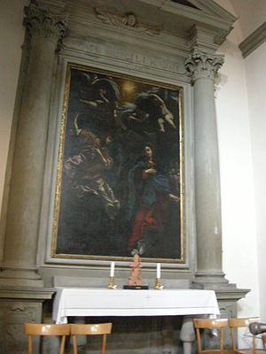 Giovanni Battista Vanni - Annunciazione (Annunciation) by Giovanni Battista Vanni, Church of San Francesco di Paola at Florence.