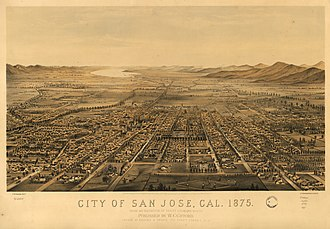 San Jose, California - San Jose, in 1875, when the Santa Clara Valley was one of the most productive agricultural areas in the world