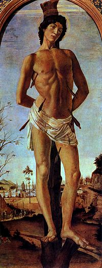 São Sebastião, por Botticelli.