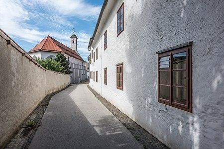 Former citizen`s hospital and monastery church Our Lady on Bürgergasse, Sankt Veit an der Glan, Carinthia, Austria