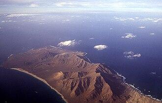 Santa Luzia, Cape Verde - Santa Luzia Island (Cabo Verde), aerial view of the northern portion in 1999