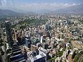Santiago de Chile from Gran torre Santiago, Andean foothills.JPG