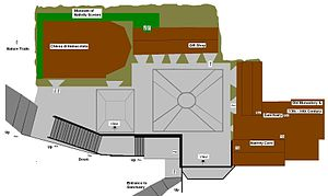 Greccio - Plan of the Santuario di Greccio.
