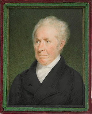 Gilbert Stuart - Portrait of Gilbert Stuart by Sarah Goodridge, 1825