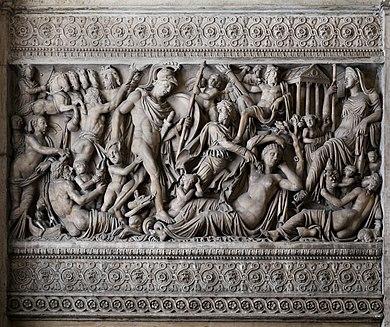 Sarcofago di marte e rea silvia, 225-230 dc ca. 01.jpg