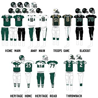 Saskatchewan Huskies football - Image: Saskatchewan Huskies football uniforms since 2012
