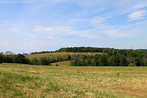 Mehoopany Township, Wyoming County, Pennsylvania - Fields in Mehoopany Township