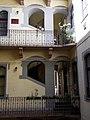 Schubert ház. Lépcsőház az udvar felől. - Budapest, Palotanegyed, József körút 85.JPG
