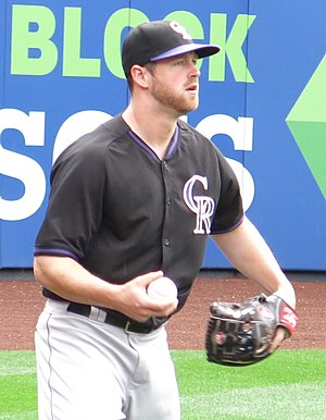 Scott Oberg - Oberg with the Rockies in 2016