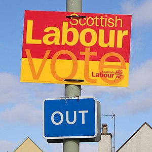 English: A portentiously positioned election s...