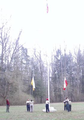 Scouts (Troops 70 and 152, Philadelphia) raising the colors at Treasure Island Scout Reservation (April 2003).png