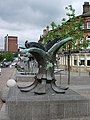Sculpture, Church Street, Blackburn - geograph.org.uk - 477463.jpg
