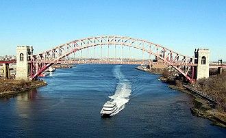 SeaStreak - Passing under Hell Gate Bridge