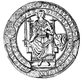 Seal of Wenceslaus II as hereditary Prince of the Kingdom of Bohemia.PNG