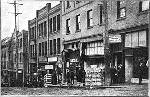 Japanese Americans - A street in Seattle's Nihonmachi in 1909