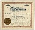 Seattle Theatre Company stock certificate, 1893 (MOHAI 11491).jpg