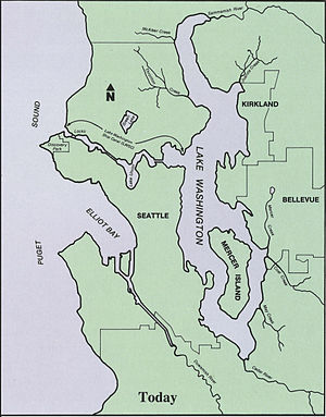 Bodies of water of Seattle - Map of waterways in Seattle and nearby areas