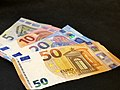 Second serie 5, 10, 20, 50 Euro banknotes.jpg