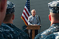 Secretary of Defense Chuck Hagel, at lectern, speaks to troops and merchant mariners aboard the afloat forward staging base USS Ponce (AFSB(I) 15) in Bahrain Dec. 6, 2013 131206-N-IZ292-094.jpg