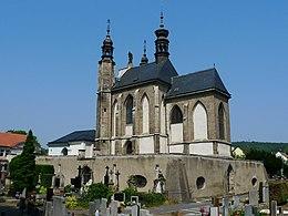 Sedlec, kaple Všech svatých s kostnicí.JPG