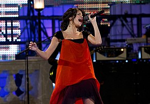 """Who Says (Selena Gomez & the Scene song) - Gomez performing """"Who Says"""" at 2011 Much Music Video Awards (Photo: Tony Felgueiras)"""