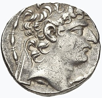 Seleucus VI Epiphanes - Seleucus VI's portrait on the obverse of a tetradrachm minted in Antioch.