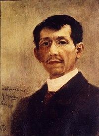 Self portrait of Félix Resurrección Hidalgo.jpg