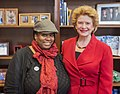 Senator Stabenow meets with a member of Change to Win. (17224157562).jpg