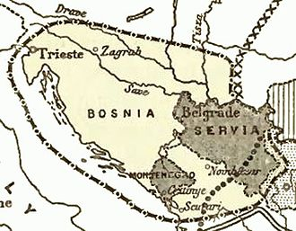 Greater Serbia - Image: Serbian aspirations 1912