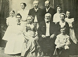 Sereno Edwards Bishop - Rev. Sereno Edwards Bishop, His Wife, Children And Grand Children. Taken Upon The Bishop's Golden Wedding Day, May 31, 1902