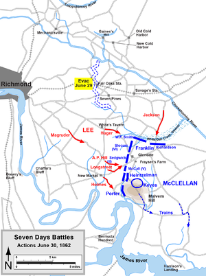 Battle of Glendale - Seven Days Battles, June 30, 1862