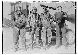 Christian F. Schilt - Sgt. Benjamin Franklin Belcher, Capt. Jame E. Davis, Lt. Christian Frank Schilt, and Sgt. Hubert H. Dogant on February 23, 1927
