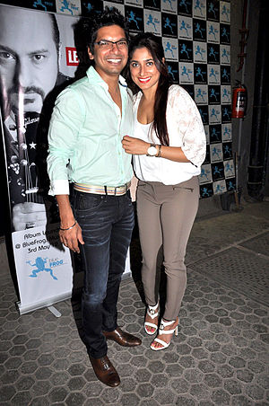 Shaan (singer) - Shaan with wife Radhika